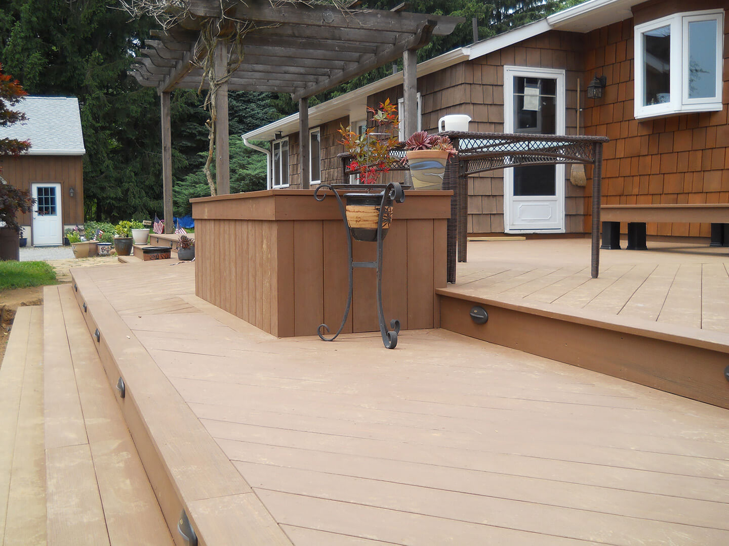 Custom Deck with Planter