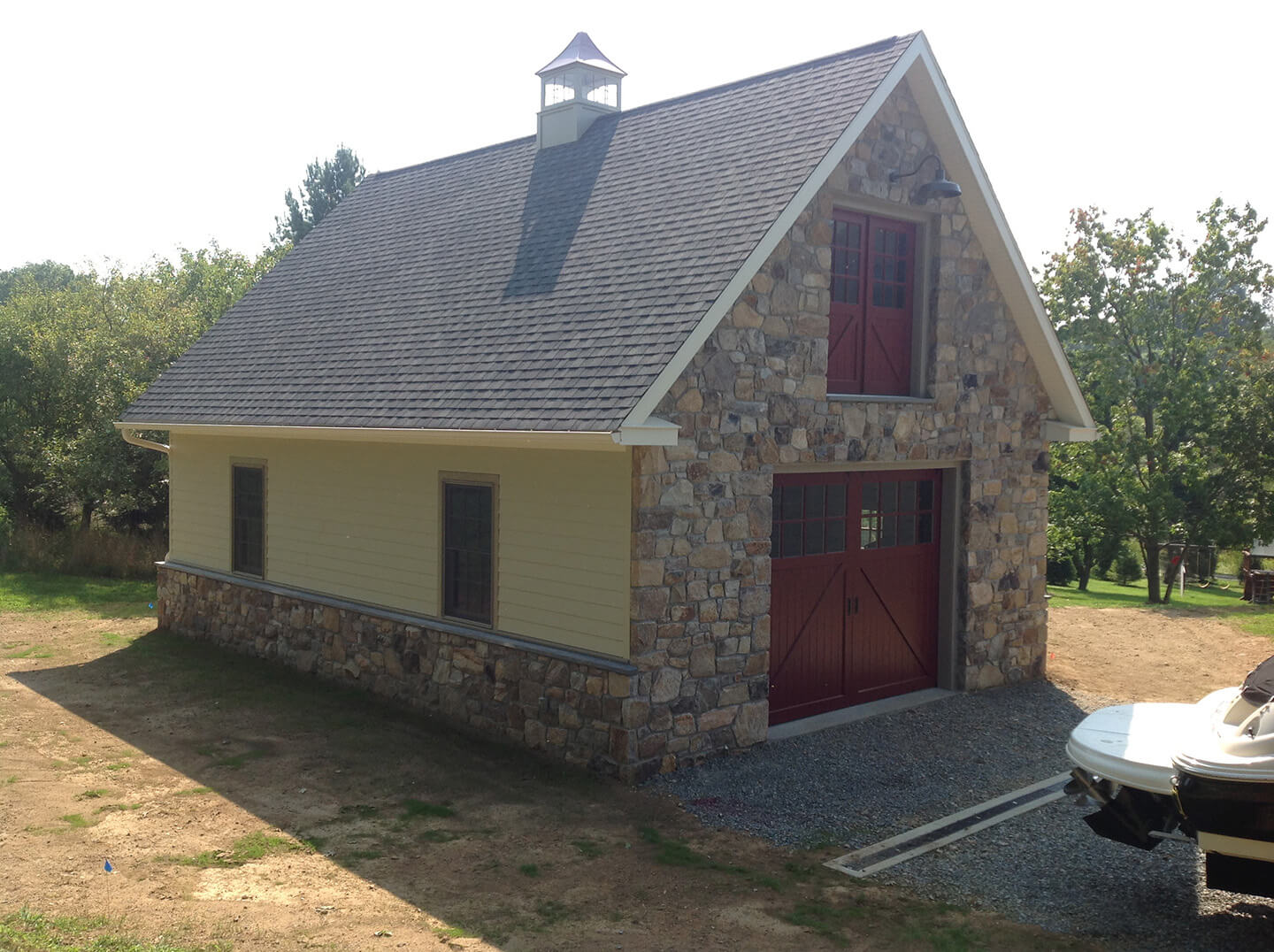Boat Garage Addition with Cupola