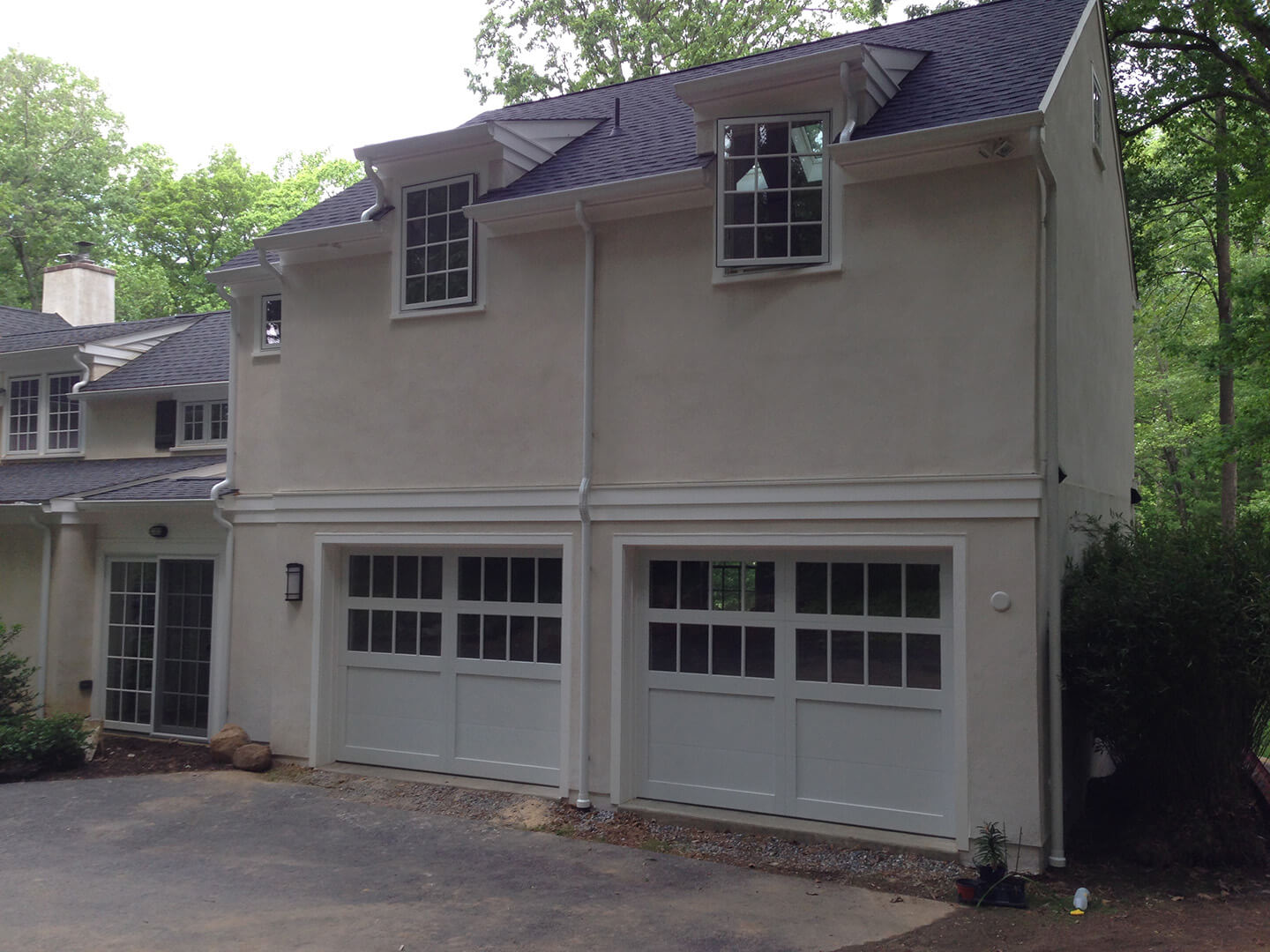 2 Car Garage Addition with Art Studio Above