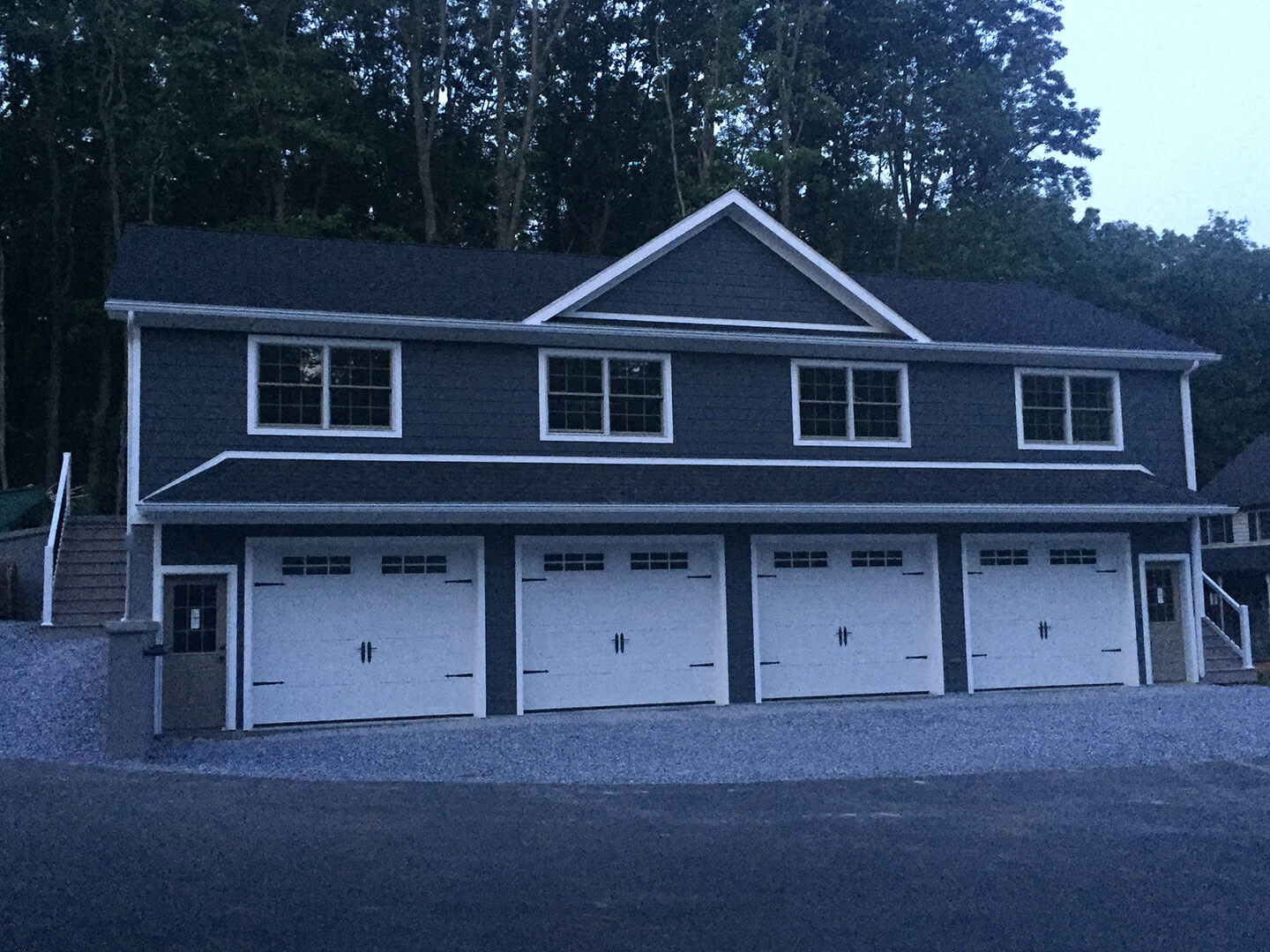 4 Car Garage with Finished Office Space Above