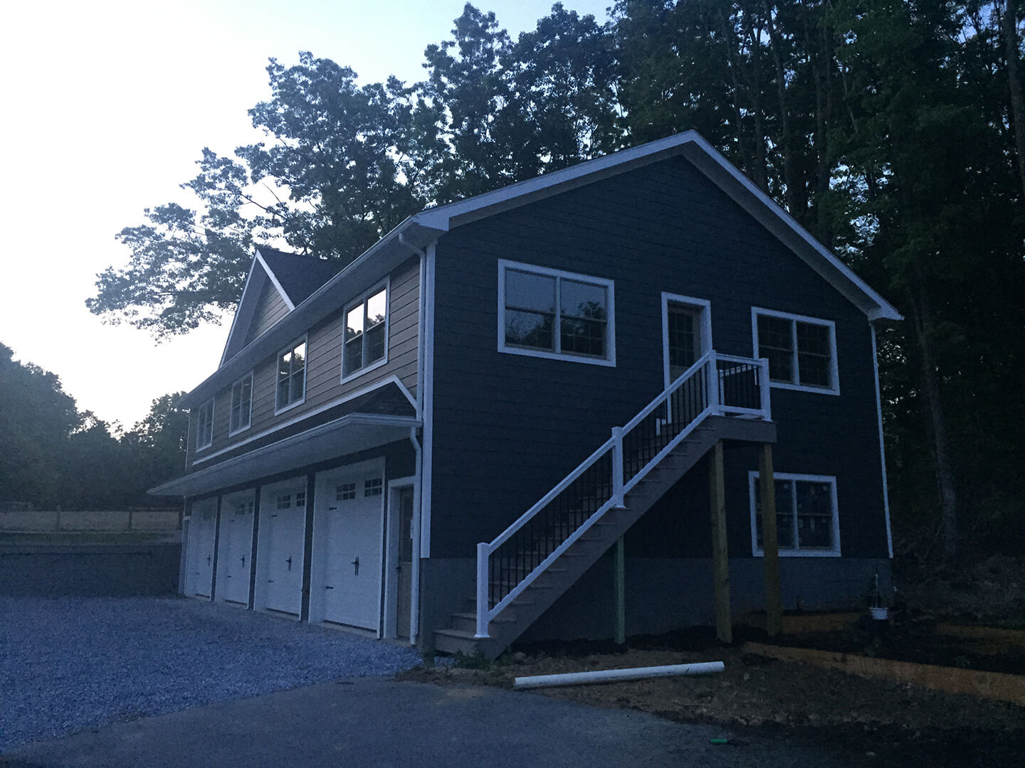 4 Car Garage with Fiber Cement Siding